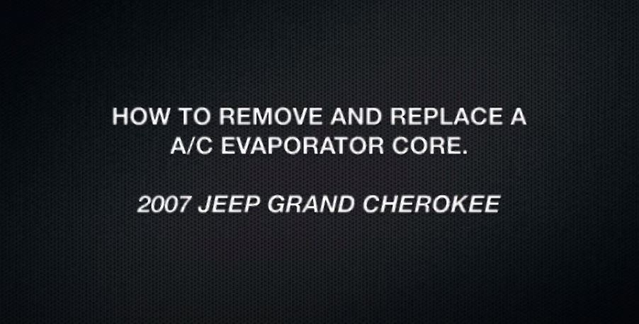 Jeep Grand Cherokee Evaporator
